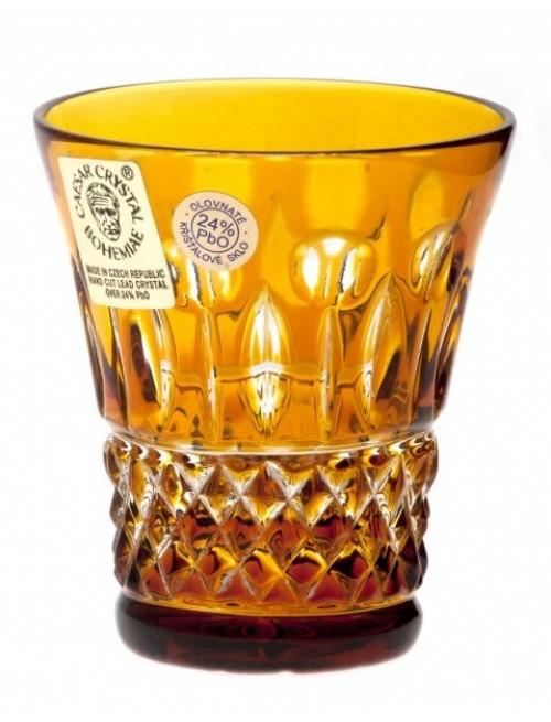 Bicchierino Tomy, cristallo, colore ambra, volume 45 ml