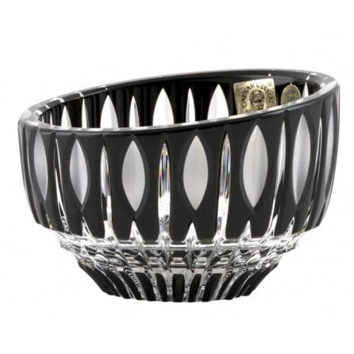 Ciotola Denver, cristallo, colore nero, diametro 96 mm