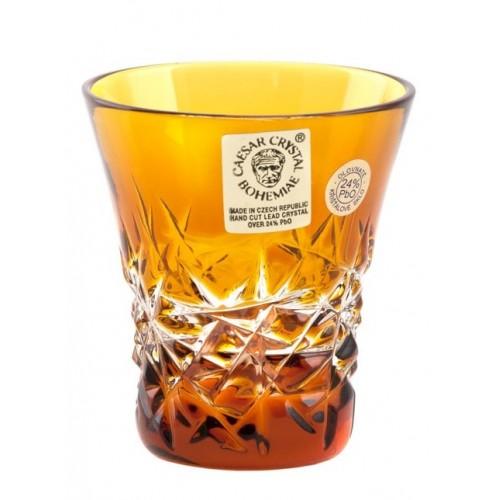 Bicchierino Hoarfrost, cristallo, colore ambra, volume 45 ml