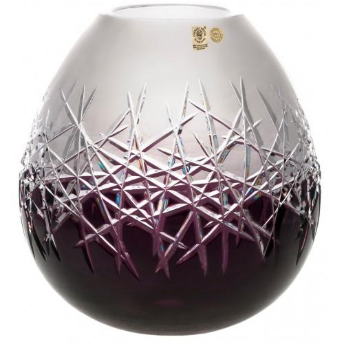 Vaso Hoarfrost, cristallo, colore viola, altezza 280 mm
