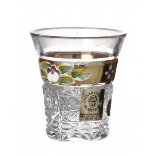 Bicchierino 500PK, cristallo trasparente dipinto oro, volume 45 ml