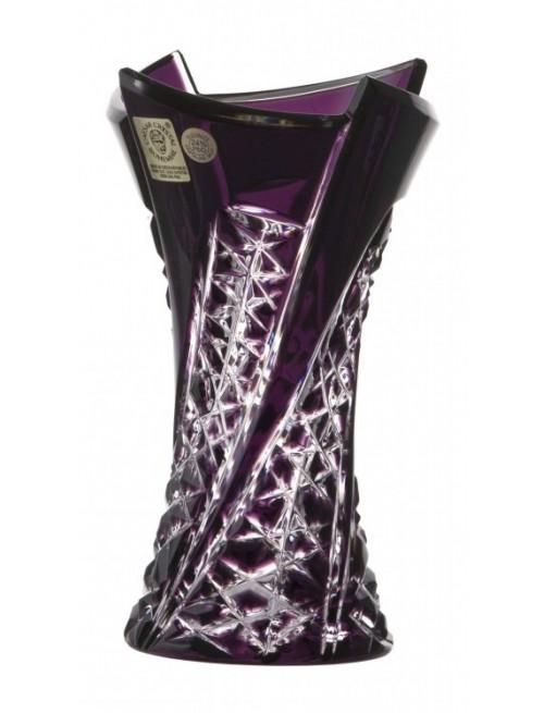 Vaso Fan, cristallo, colore viola, altezza 155 mm