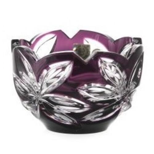 Ciotola Linda, cristallo, colore viola, diametro 110 mm