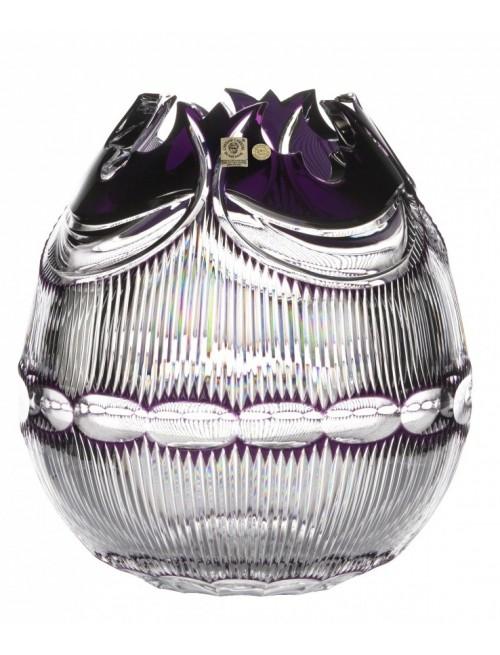 Vaso Diadem, cristallo, colore viola, altezza 280 mm