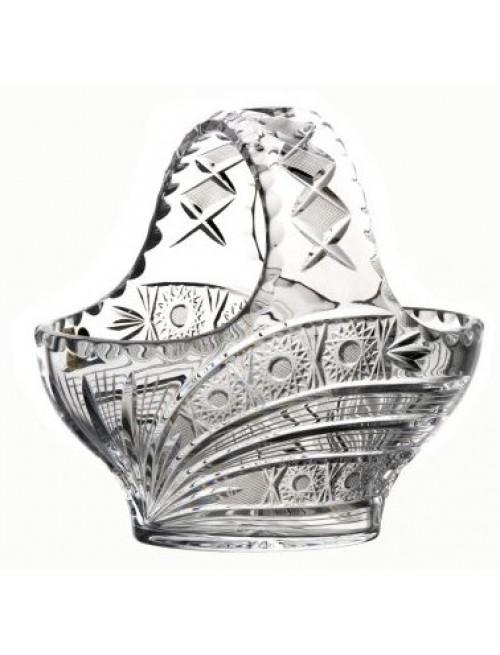 Cesto Cometa, cristallo trasparente, diametro 200 mm