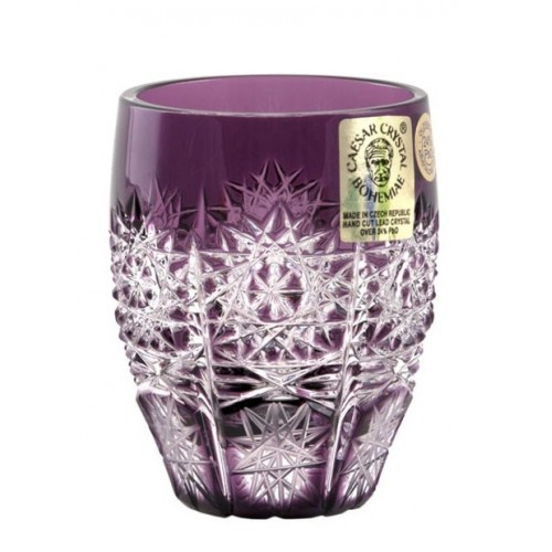Bicchierino Paula, cristallo, colore viola, volume 50 ml