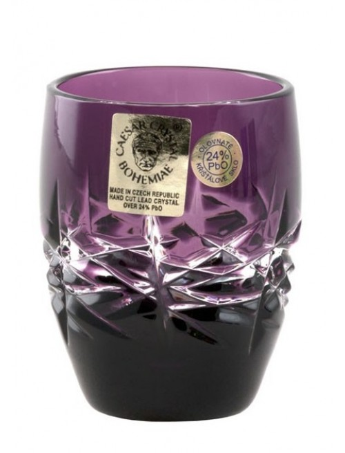Bicchierino Hoarfrost, cristallo, colore viola, volume 50 ml