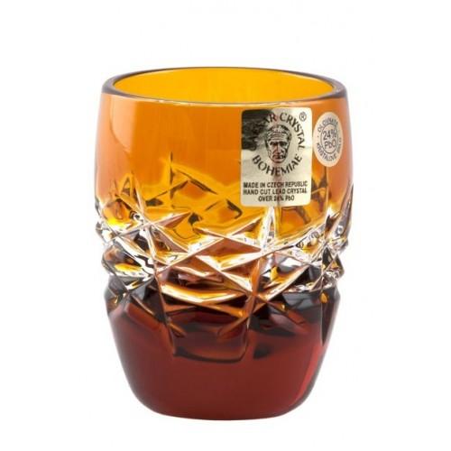 Bicchierino Hoarfrost, cristallo, colore ambra, volume 50 ml