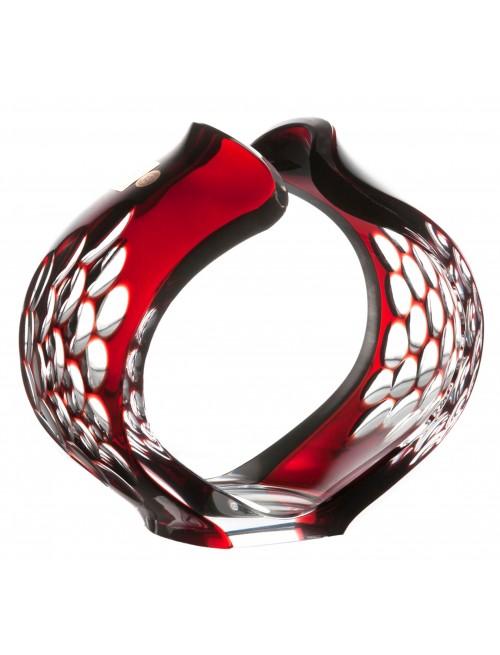 Portacandele Sirius, cristallo, colore rosso, altezza 165 mm