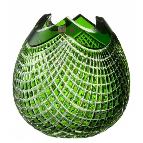 Vaso Quadrus, cristallo, colore verde, altezza 250 mm