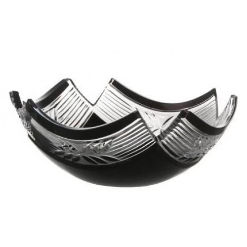 Insalatiera Laurel, cristallo, colore nero, diametro 230 mm