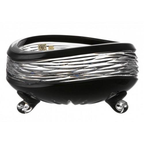 Insalatiera Poem, cristallo, colore nero, diametro 205 mm