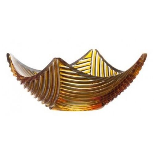 Insalatiera Linum, cristallo, colore ambra, diametro 280 mm