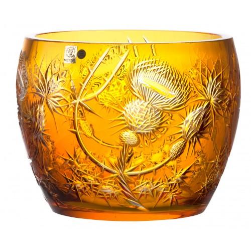 Insalatiera Thistle, cristallo, colore ambra, diametro 240 mm