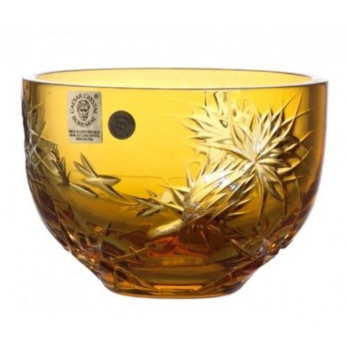 Ciotola Thistle, cristallo, colore ambra, diametro 110 mm