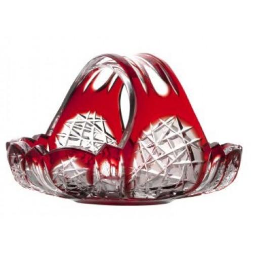 Cesto Frigus, cristallo, colore rosso, diametro 230 mm
