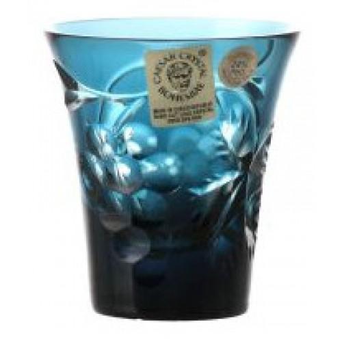 Bicchierino Grapes, cristallo, colore azzurro, volume 45 ml