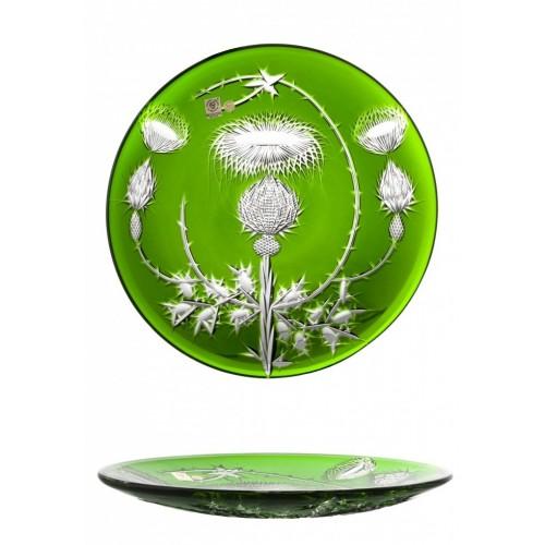 Piatto Thistle, cristallo, colore verde, diametro 300 mm