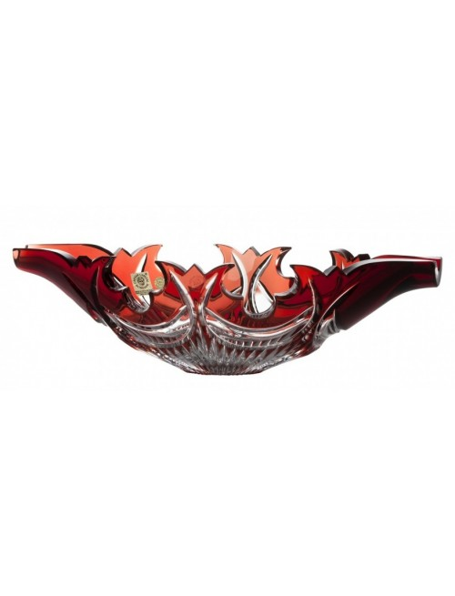 Insalatiera Diadem, cristallo, colore rosso, diametro 300 mm