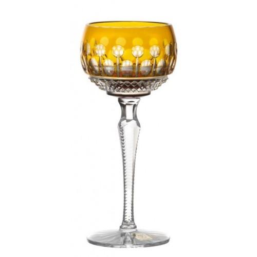 Bicchiere Tomy, cristallo, colore ambra, volume 190 ml