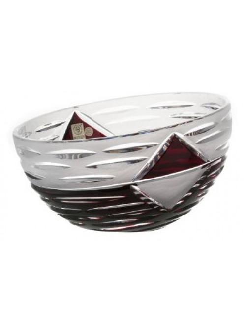 Insalatiera Mirage, cristallo, colore rosso, diametro 229 mm