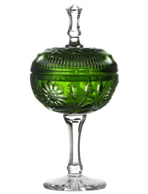 Coppa Garden, cristallo, colore verde, altezza 315 mm