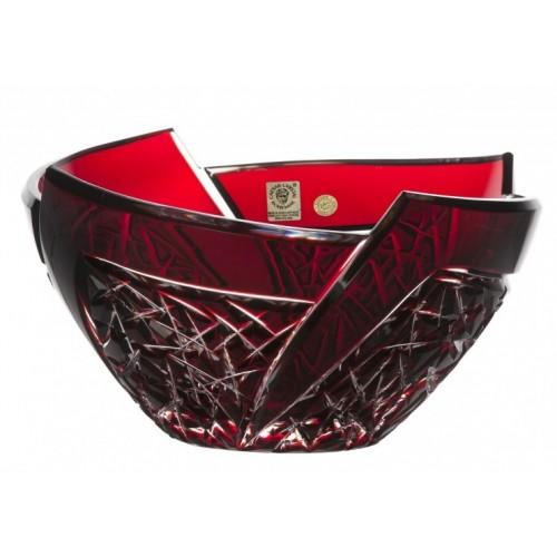 Insalatiera Fan, cristallo, colore rosso, diametro 225 mm