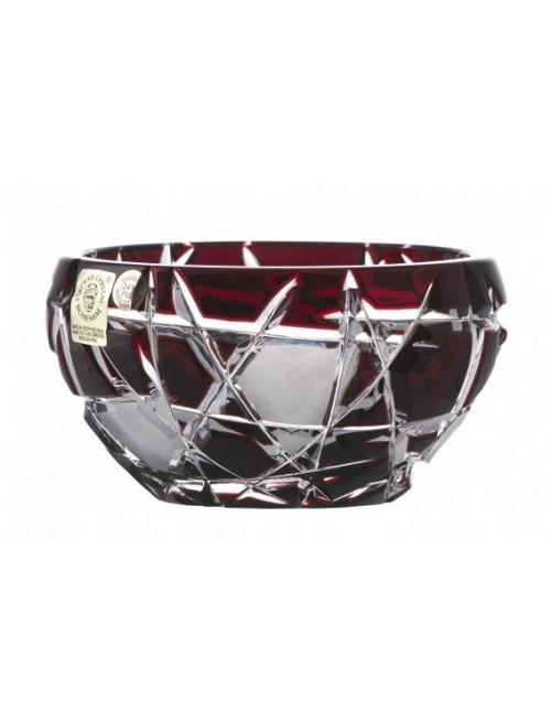 Ciotola, cristallo, colore rosso, diametro 109 mm