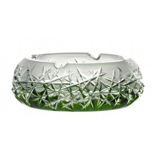 Portacenere Hoarfrost, cristallo, colore verde, diametro 155 mm