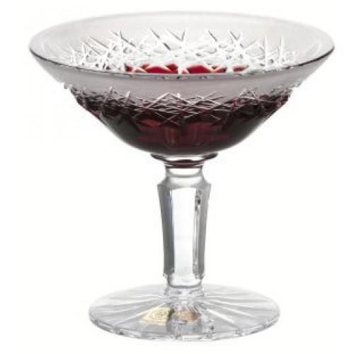 Portafrutta Hoarfrost, cristallo, colore rosso, diametro 155 mm