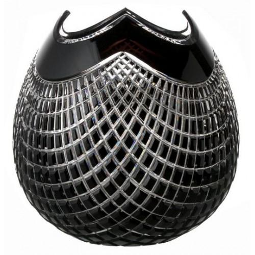 Vaso Quadrus, cristallo, colore nero, altezza 250 mm