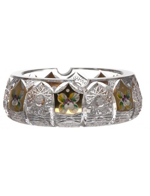 Portacenere 500PK, cristallo trasparente dipinto oro, diametro 150 mm