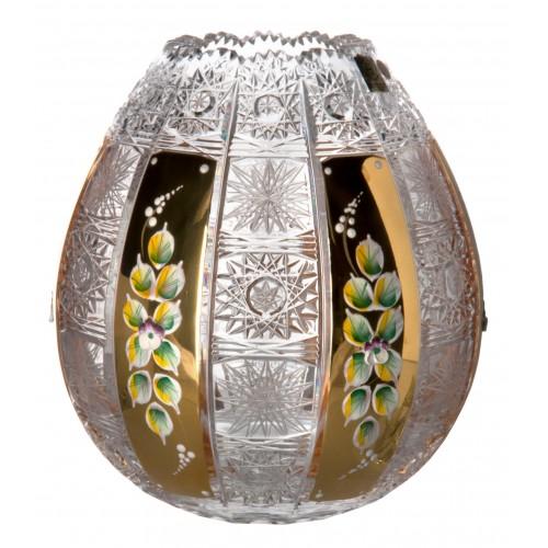 Vaso 500pk, cristallo trasparente dipinto oro, altezza 210 mm