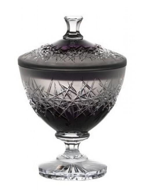 Confettiera Hoarfrost, cristallo, colore viola, altezza 260 mm