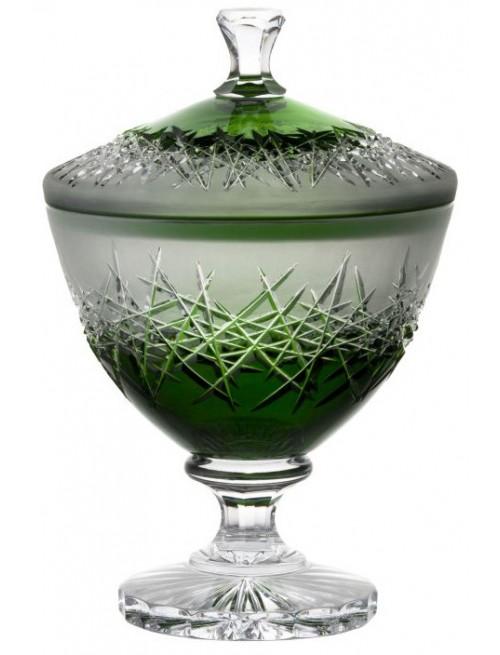 Confettiera Hoarfrost, cristallo, colore verde, altezza 260 mm