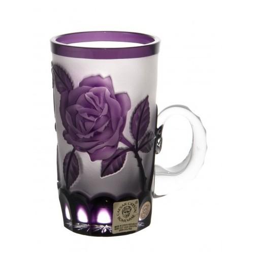 Tazza Rose, cristallo, colore viola, volume 100 ml
