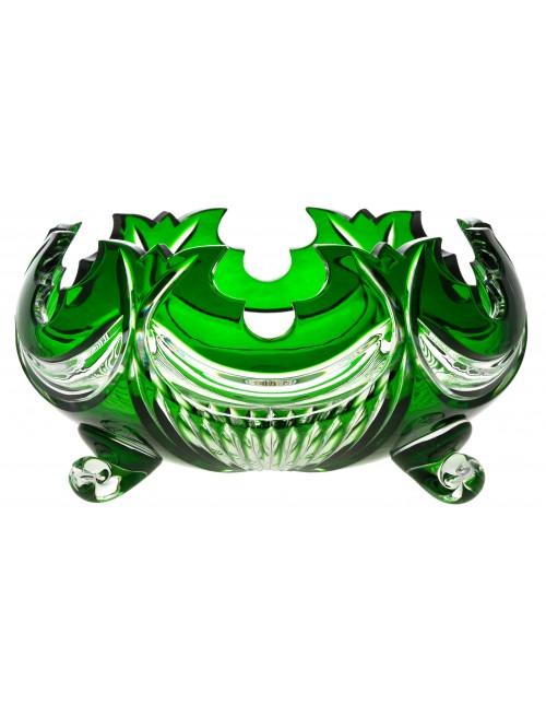 Insalatiera Diadem, cristallo, colore verde, diametro 255 mm