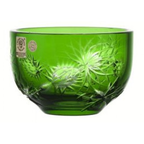 Ciotola Thistle, cristallo, colore verde, diametro 110 mm