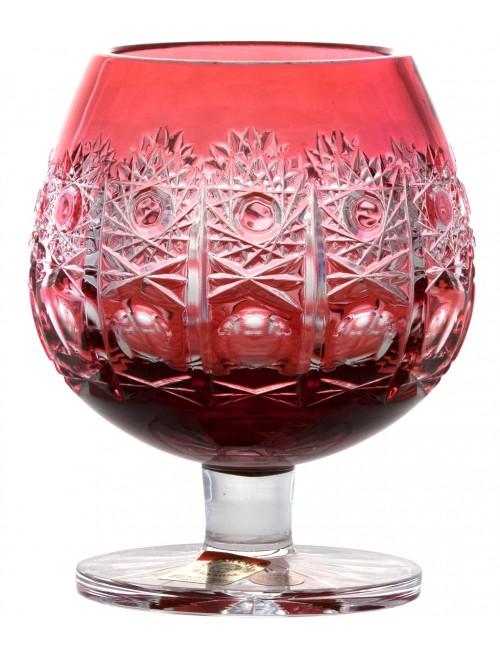 Bicchiere Brandy Petra, cristallo, colore rosso, volume 230 ml