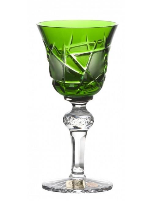 Bicchiere Mars, cristallo, colore verde, volume 50 ml
