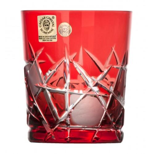 Bicchiere Mars, cristallo, colore rosso, volume 290 ml