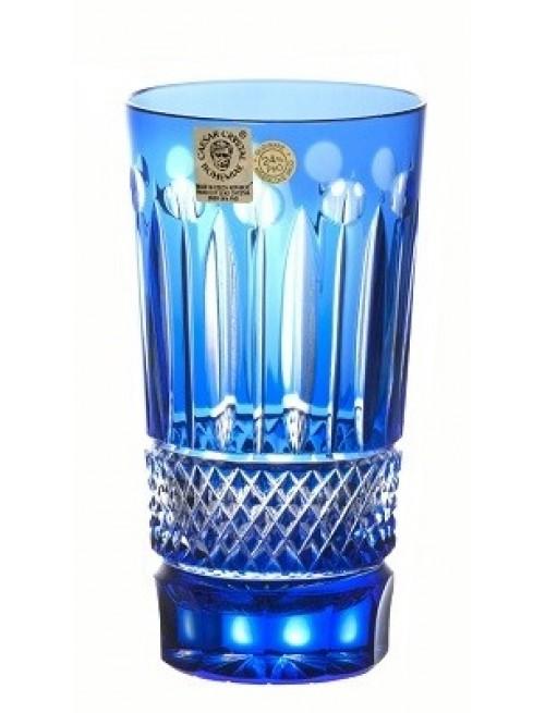 Bicchiere Tomy, cristallo, colore blu, volume 320 ml