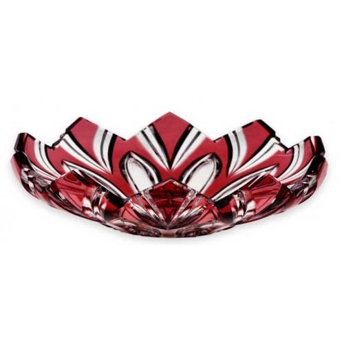 Piatto Lotos, cristallo, colore rosso scuro, diametro 144 mm