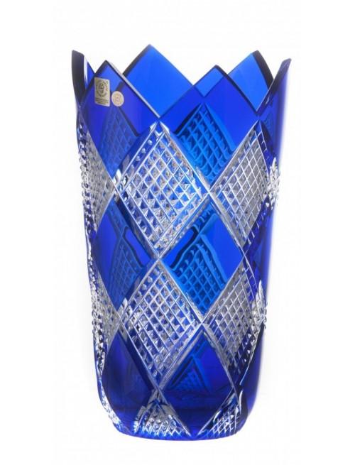 Vaso Colombine II, cristallo, colore blu, altezza 255 mm