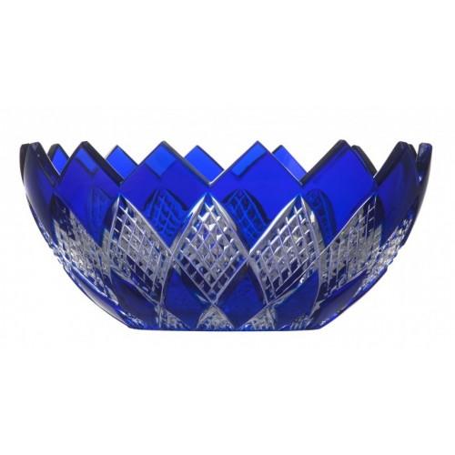 Insalatiera Colombine, cristallo, colore blu, diametro 250 mm