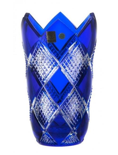 Vaso Colombine, cristallo, colore blu, altezza 205 mm