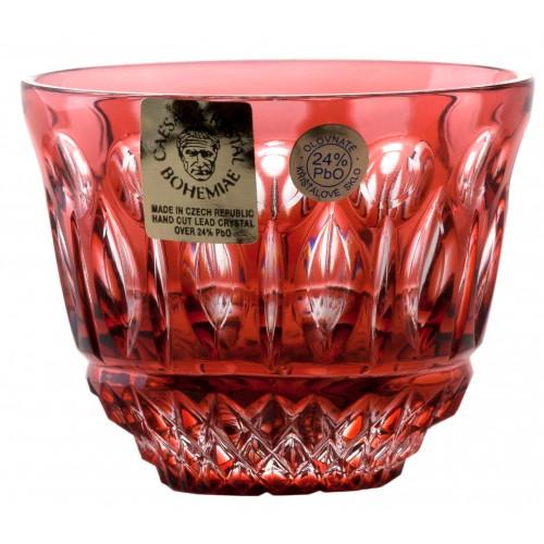 Bicchierino Tomy, cristallo, colore rosso, volume 65 ml