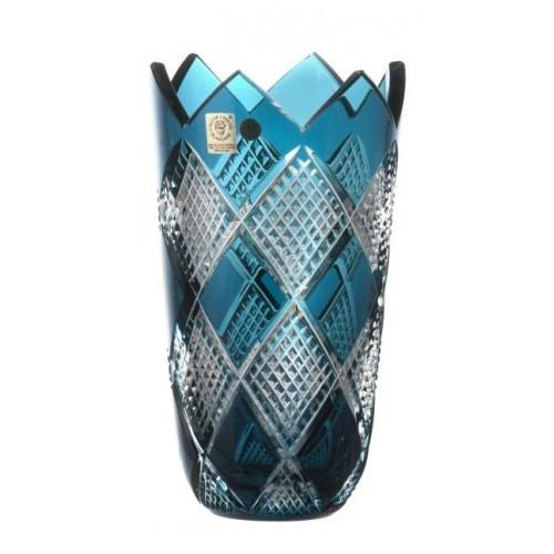 Vaso Colombine II, cristallo, colore azzurro, altezza 205 mm
