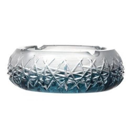 Portacenere Hoarfrost, cristallo, colore azzurro, diametro 155 mm