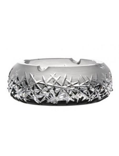 Portacenere Hoarfrost, cristallo, colore nero, diametro 155 mm